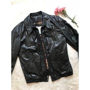 {Vintage} London Fog Leather Jacket